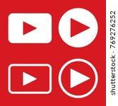 play button icon vector | Shutterstock .eps vector #769276252