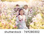 happy asian children having fun ... | Shutterstock . vector #769280302