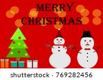 merry christmas  christmas tree ... | Shutterstock .eps vector #769282456