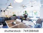 interior of modern cafeteria in ... | Shutterstock . vector #769288468
