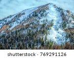Snowy Mountainside With Ski...