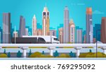 modern city landscape... | Shutterstock .eps vector #769295092