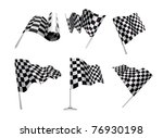 checkered flags set... | Shutterstock . vector #76930198