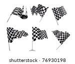 checkered flags set... | Shutterstock . vector #76930198