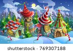 christmas village of santa... | Shutterstock .eps vector #769307188