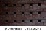 Small photo of seamless brick wall and air space background
