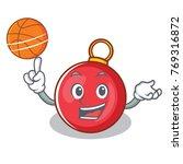 with basketball christmas ball... | Shutterstock .eps vector #769316872