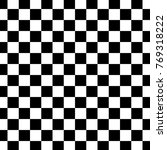 black and white checkered... | Shutterstock .eps vector #769318222