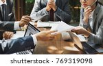 business meeting in asia | Shutterstock . vector #769319098