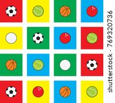 balls cartoon vector... | Shutterstock .eps vector #769320736