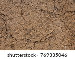 brown dry soil or cracked... | Shutterstock . vector #769335046