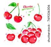 watercolor illustrations set of ... | Shutterstock . vector #769336306
