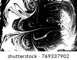 black and white liquid texture. ... | Shutterstock .eps vector #769337902