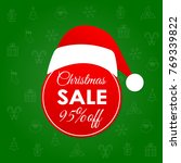 christmas sale and discount... | Shutterstock .eps vector #769339822