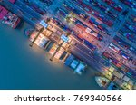 logistics and transportation of ... | Shutterstock . vector #769340566