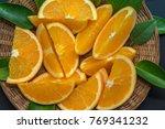 colorful fruit of fresh orange... | Shutterstock . vector #769341232