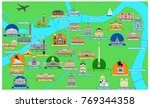 map of the historical center of ... | Shutterstock .eps vector #769344358