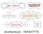 vintage frame design for labels ... | Shutterstock .eps vector #769347775