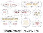 vintage frame design for labels ... | Shutterstock .eps vector #769347778
