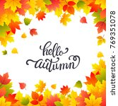 bright autumn background with... | Shutterstock .eps vector #769351078