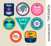 set of stickers for travel and... | Shutterstock .eps vector #769356826