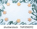 christmas background with...   Shutterstock . vector #769358392