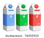milk carton with screw cap.... | Shutterstock .eps vector #76935925