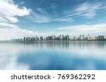 urban skyline and modern... | Shutterstock . vector #769362292