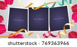 collage of photo frames or... | Shutterstock .eps vector #769363966