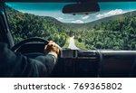 freedom car travel wanderlust... | Shutterstock . vector #769365802