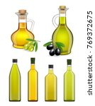 set of realistic glass olive... | Shutterstock . vector #769372675