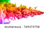 acrylic colors and ink in water.... | Shutterstock . vector #769373758