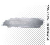 silver glitter paint brush... | Shutterstock .eps vector #769377022