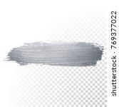 silver glitter paint brush... | Shutterstock .eps vector #769377022
