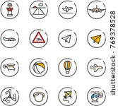 line vector icon set   airport... | Shutterstock .eps vector #769378528