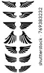 set of wings icons. design... | Shutterstock .eps vector #769383232