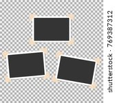 set of photo frame with angle ... | Shutterstock .eps vector #769387312