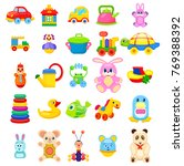 soft animals  easy constructors ... | Shutterstock .eps vector #769388392