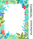 frame with collection of... | Shutterstock .eps vector #769388452