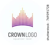 abstract crown logo made of... | Shutterstock .eps vector #769391728