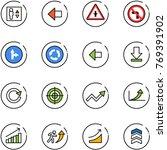 line vector icon set   elevator ... | Shutterstock .eps vector #769391902