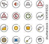 line vector icon set   traffic...