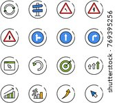 line vector icon set   exchange ... | Shutterstock .eps vector #769395256