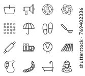thin line icon set   basket ... | Shutterstock .eps vector #769402336