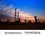 the oil pump  industrial...   Shutterstock . vector #769403896