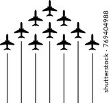 airplane flying formation  air... | Shutterstock .eps vector #769404988