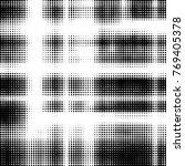abstract grunge grid polka dot... | Shutterstock .eps vector #769405378