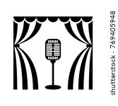 cinema icon. music microphone... | Shutterstock . vector #769405948