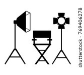 cinema icon. film director... | Shutterstock . vector #769406278