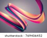 3d render abstract background.... | Shutterstock . vector #769406452